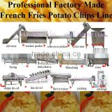 Complete Small Big Scale french fried potatoes processing machinery Production Line Equipment Making Macine Fry Chips Price