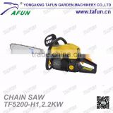 5200 china good quality gas powered petrol chain saw with 2.2kw out put power(TF5200-H1)