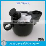 Original black ceramic shaving scuttle bowl