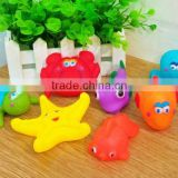 Cartoon pvc Bath toys Animal, Baby bath toys water spray funny showr toys,floating plastic bath toy