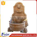 Hand carved Wall-mounted marble water fountain for decoration NTMF-013LI