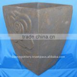Antique Terracotta Ceramic Planters - washed Terracotta pot