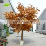 BTR1503 GNW artificial chinese maple bonsai tree with gold leaf sale for restaurant decoration