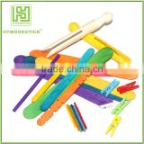 Birch Wooden Color Sticks