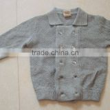 High Quality unisex children double row pearl beaded buttons autumn cardigan sweater (BKNB5273)