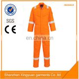 China manufacture aramid IIIA FR reflective Fire Resistant coverall suit for oil and gas