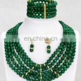 2015 nigerian beads jewelry set /african beads jewelry set /wedding jewelry beads for wedding party