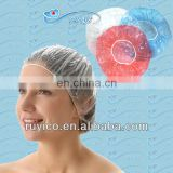 disposable plastic clear white shower cap / bathing cap