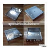 High quality Sheet metal stamping electronic amplifier part zinc plated custom metal chassis waterproof enclosure