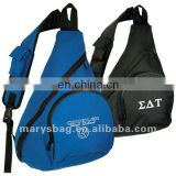 nylon sling bag with easy grip nylon loop handle