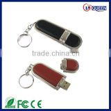 4GB 8GB 16GB Keyring Leather OEM Keychain Flash USB Stick, CE, FCC, ROHS, WCA and Bureau Veritas report