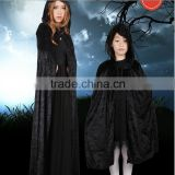 Halloween Costumes China Wholesale Adult Children Female Witch Black Cloak Vampire Cape Cosplay Masquerade Death