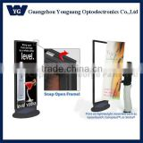 Rotating LED moving Sign with Snap-Open Rail Bars/led front open sign