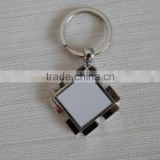DIY custom metal key rings with sublimation printable aluminum sheet ,chrome-plated various shape