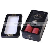 mini adversting promtional playing card,poker set with tin box