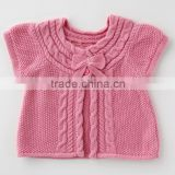 japanese wholesale 2013 new fashion baby girl outfit fashion cute kids clothes infant baby wear knitted cardigan for girls