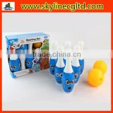 22cm Smile face bowling set sport toy for kids with 6 bottles and 1 ball