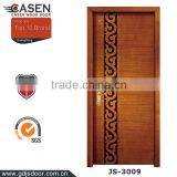 Popular design hot sale in Middle East country high quality nature teak wood main door designs for house