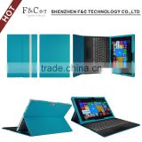 Flip premium leather PU case for microsoft surface pro 4 tablet cover