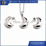 FJS0013 stainless steel moon banana set jewelry