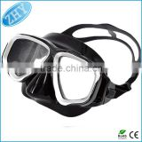 Silicone Scuba Diving Equipment Mask Snorkel Glasses Set With Anti Fog Goggles