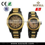 2016 Bewell high-grade steel with natural wood watches man attractive watch                                                                         Quality Choice