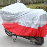 silver and red color heat resistant motorbike cover