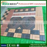 Wood plastic composite decking tile with modern DIY style in good quality and cheap price