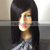 "Alibaba express wholesale factory direct price 1B# 14"" 100% Brazilian human hair Silk forehead full hand tied wig"
