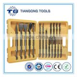 TG Stone working drilling tool set in metal box 17pcs SDS hammer drill