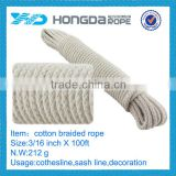 3/16 inch X 100 ft Cotton Braided Clothes Line Rope