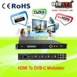 Quad channel hdmi digital modulator with option HD-SDI inputs
