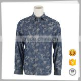 China suppliers New style Fashion 100%Cotton mens denim shirt ombre