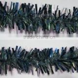 Xmas Plastic Tinsel Garland Dark Blue Color