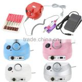 Pro 220V Electric File Buffer Bits Machine Set Electric Nail Art Drill Manicure Pedicure Nails Tool Kit