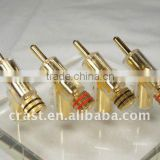 Audiocrast Gold 45 Speaker Cable Banana Connector Plug