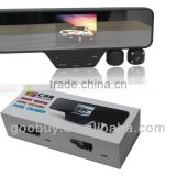 2013-2014 china cheap dual lens 1920/720P rearview mirror radar detector, for russia and CIS market