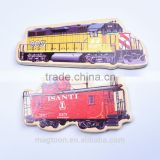 2016 factory sale directly nice old train design wooden fridge magnets for home decor & children toys