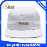 5 Panel Hat Custom Promotion With Leather Patch Logo                                                                         Quality Choice