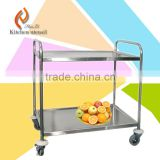 Low price cheap high quality stainless steel meat food trolley cart for kitchen appliance