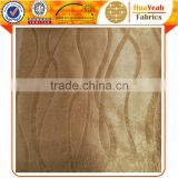 Balcony striped pattern solid plain emboss blackout curtain fabric                                                                                                         Supplier's Choice