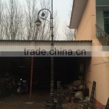 cast iron solar Decorative street lamp post/cast aluminum solar lamp pole/street and garden solar lamp pole