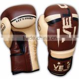 Gel Shock Leather Boxing Gloves Fight Punch Bag MMA