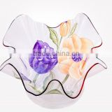 2015 fashional clear flower acrylic fruit plate,tray
