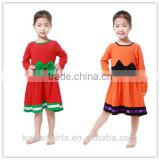 Newest fall chic frocks toddler party wear unique Halloween festival christmas dress for baby girls