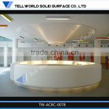 Elegant design commercial marble stone reception desk/beauty salon reception desk