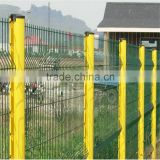 PVC coated hot dip galvanized triangle bended fence,welded wire mesh fence panels in 6 gauge