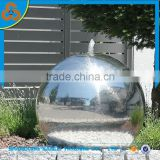garden ornaments landscaping mirror surface stainless steel ball fountain