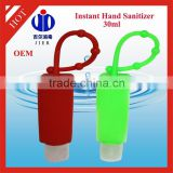 OEM brand mini pocket Antibacterial Hand Sanitizer gel with silicone holder