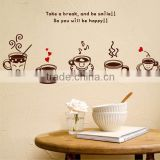 New Kawaii Coffee Cup Anime Wall Decal Japanese Waterproof Vinyl Multifunction Decorative Sticker OSK011